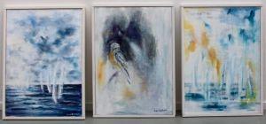 Tre tavlor på Upplands väsbys konsthall
